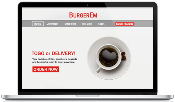 Coffee shop online ordering